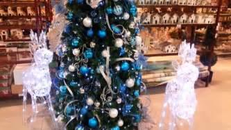 decoraciones para arboles de navidad decoracion arboles de navidad 2017 azul y plata parte 17