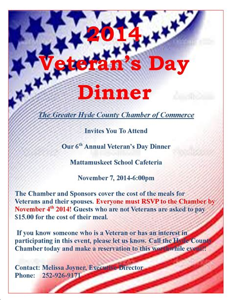 Welcome To Hyde County North Carolina Autos Post Veterans Day Program Template