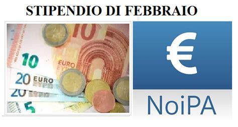 stipendio in stipendio in pagamento il 23 febbraio col conguaglio