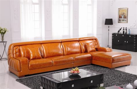 sofa orange color ev 3338 contemporary sectional sofa in