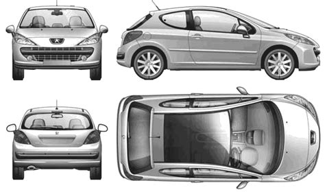 peugeot 2 door image gallery peugeot 207 drawing
