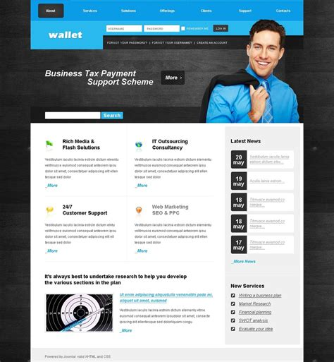 Accounting Website Joomla Template 25352 Joomla Accounting Template