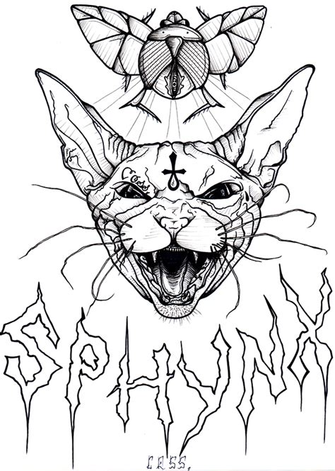 sphynx cat coloring page sketch sphynx of egypt coloring pages