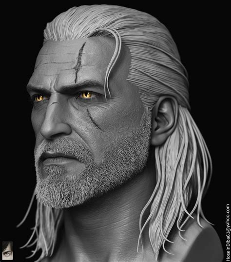 Ar Gamis Diba cgtalk geralt of rivia done for custom witcher series of