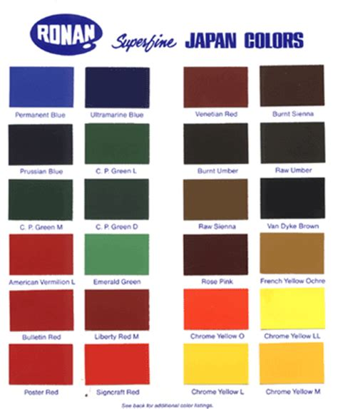 ronan paints superfine japan colors decoy paints decoy carving supplies