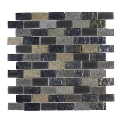 jeffrey court midnight opal brick glass 12 in x 12 in