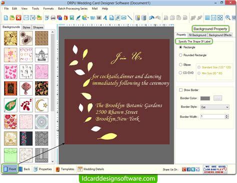 screenshots of wedding card designer software to learn how screenshots of wedding card design software for creating
