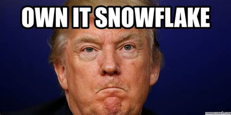 Meme It - own it snowflake