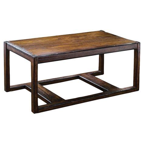 danny rustic lodge honey mahogany coffee table kathy kuo