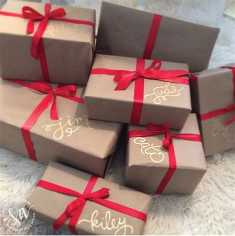 brown christmas gifts brown paper packages up with string emerald interiors