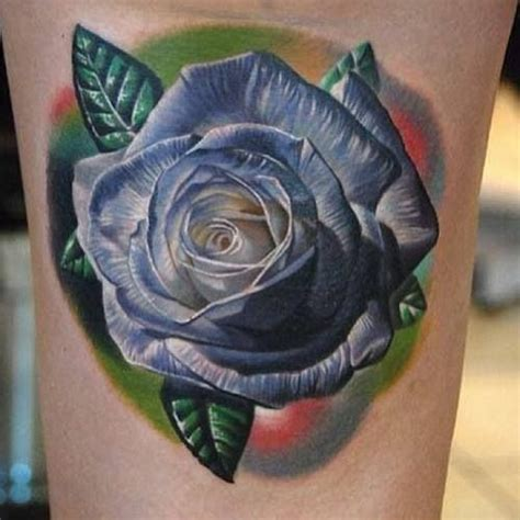 blue rose tattoo pictures blue ink