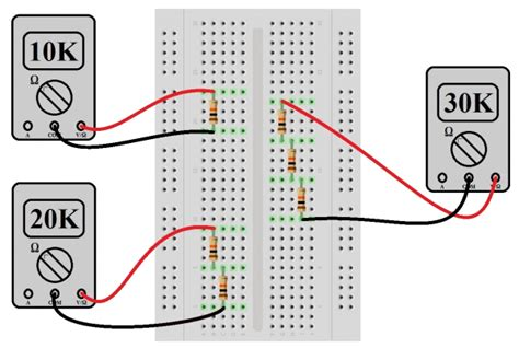 breadboard resistors in series series and parallel circuits learn sparkfun