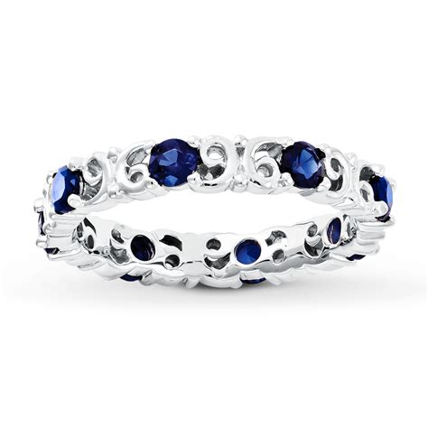 stackable ring lab created sapphire sterling silver