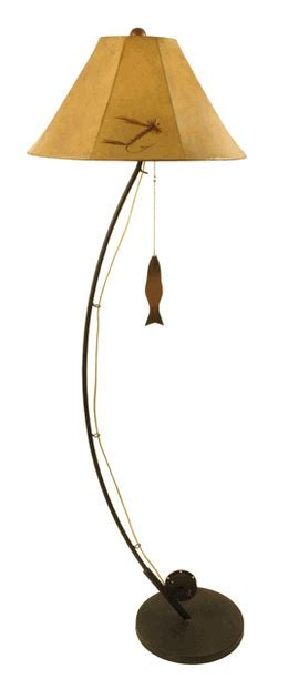 Fly Fishing Pole Floor Lamp