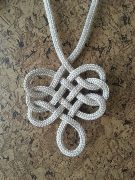 Decorative Knot - single rope pendant wrappedknottedbraided br 246 d