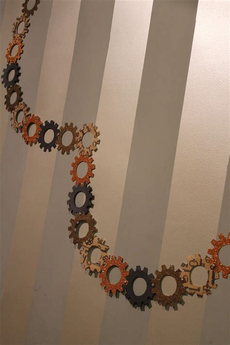 How To Make Paper Gears - steunk your decorations with these diy