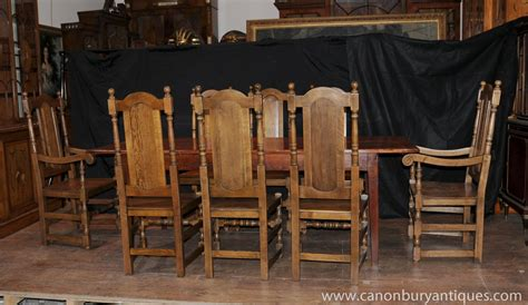 Farm Table Dining Room Set Farmhouse Dining Set Oak Refectory Table Willam And Chairs Ebay