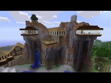 Blueprints Homes by Minecraft Showcase Cliff House Youtube