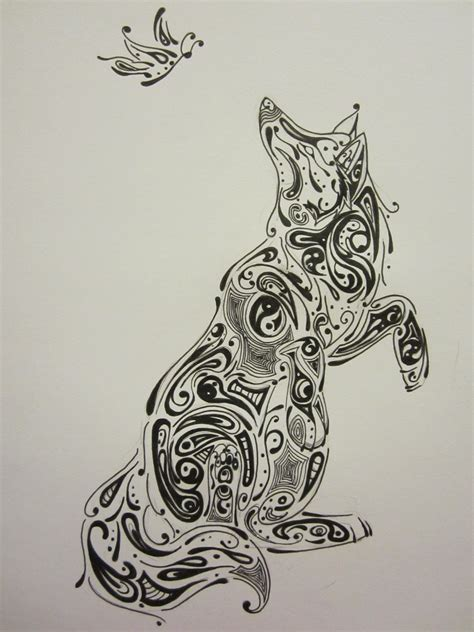 abstract tribal wolf by wolfdemon001 on deviantart