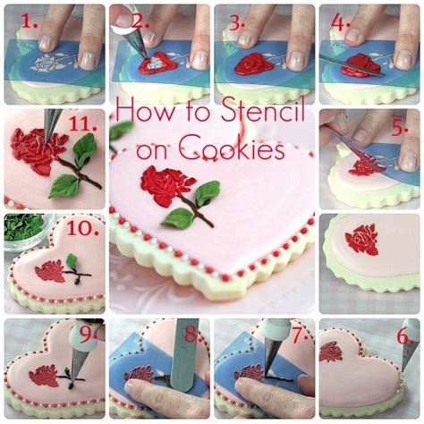 Stencils For Cookie Decorating by How To Stencil On Cookies With Royal Icing Sweetopia