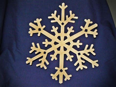 wooden snowflake patterns