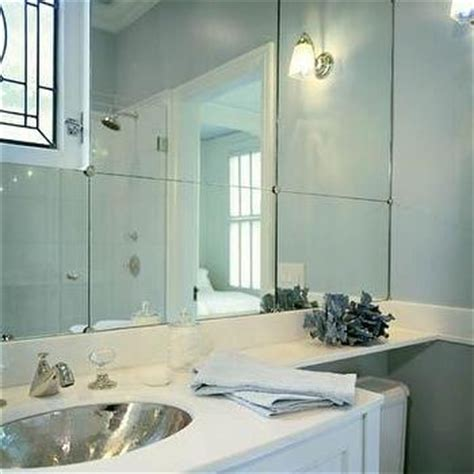 Bathroom Mirror No Backsplash Mirrored Backsplash Design Ideas