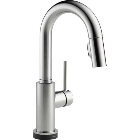 delta trinsic single handle pull sprayer bar faucet