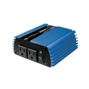 Lu Hannoch Genius 10 Watt Ac Dc power bright 12 volt dc to ac 200 watt power inverter pw200 12 the home depot