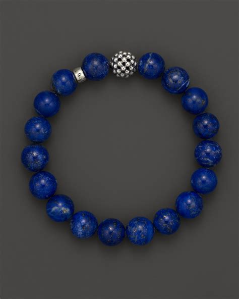 Lagos Lapis Caviar Beaded Bracelet In Blue Lyst