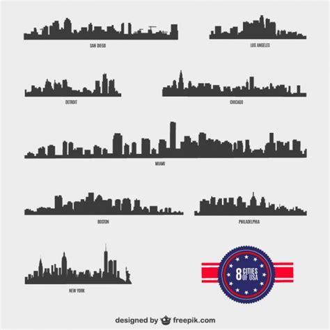 vectores de siluetas completamente gratis recursos photoshop siluetas de ciudades americanas descargar vectores gratis