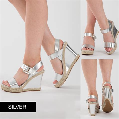 Wedges T 1 3 8 Hitam Limited new low heel wedge sandal womens summer platform court shoes size uk 3 8