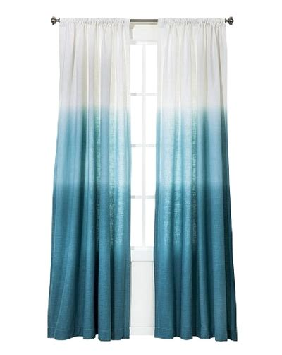 how to ombre dye curtains ocean inspired dip dye curtains from target featured on