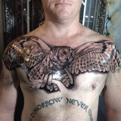 owl tattoo placement owl tattoo chest placement tattoo addiction