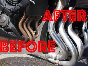 Exhaust Pipe Cleaner How To Clean Motorcycle Exhaust Pipes Swissbiker