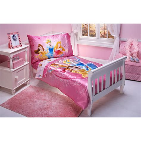 walmart toddler bed sets disney heart of a princess 4 piece toddler bedding set walmart com
