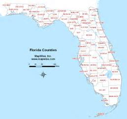 south florida map showing cities the sun bake florida s 67 counties