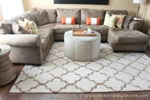 sectional with rug i like the automan h0me