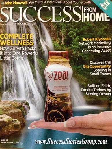 success from home magazine october 2015 featuring zurvita