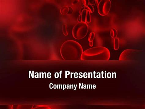 Red Blood Cells Powerpoint Templates Red Blood Cells Blood Ppt Templates Free