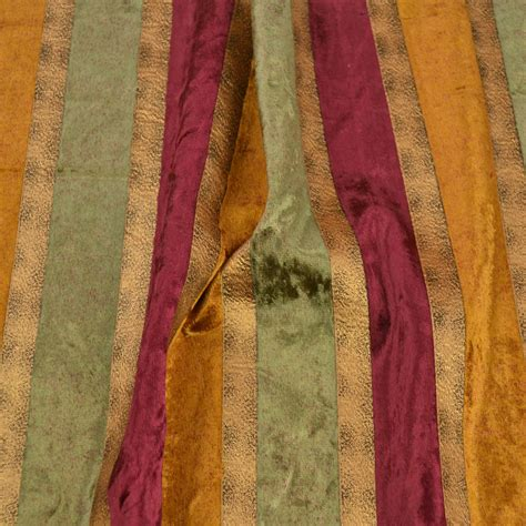 burgundy curtain fabric home d 233 cor drapery upholstery burgundy stripe velvet