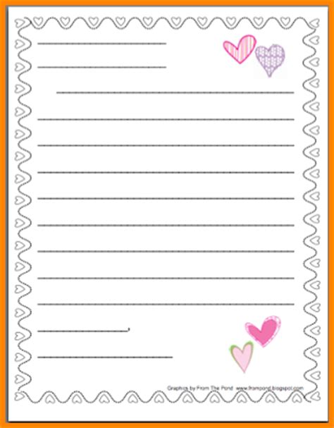 search results for valentine writing paper printable