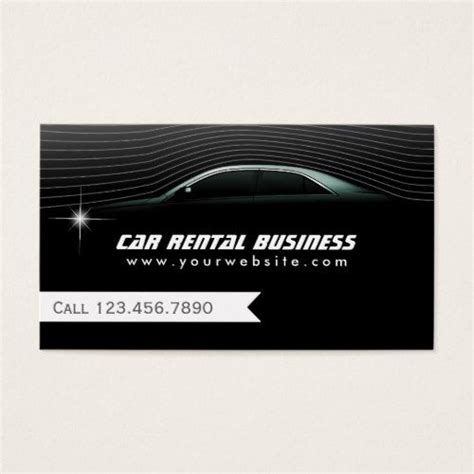 limo service business professional car hire limo service business card