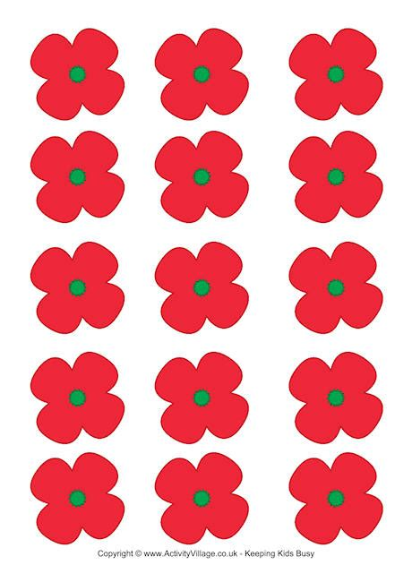 5 best images of poppy printable template paper poppy