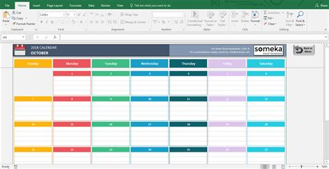 calendar template for excel calendar month printable