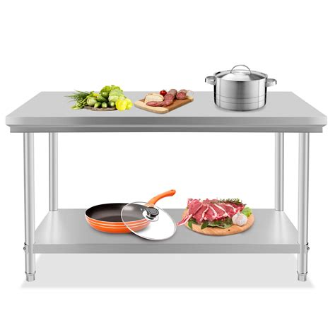 commercial kitchen prep table stainless steel commercial kitchen work prep table 30 quot x
