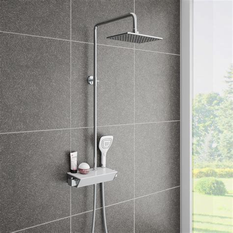 regal dusche neo modern thermostatic shower with shelf