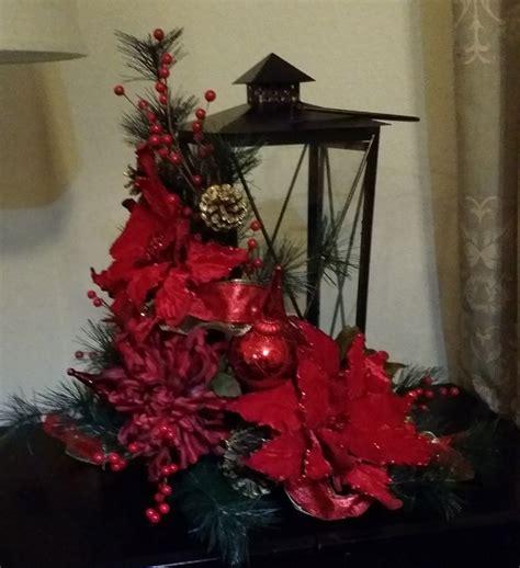 xmas decor with lanterns christmas lantern lantern with red poinsettias christmas
