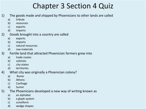 chapter 4 section 3 ppt chapter 3 section 4 the phoenicians powerpoint