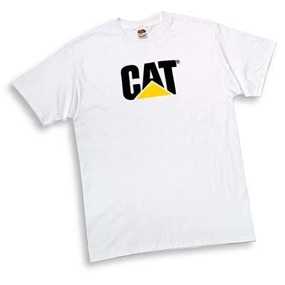 T Shirt Caterpillar White cat shirts cat t shirts caterpillar t shirts