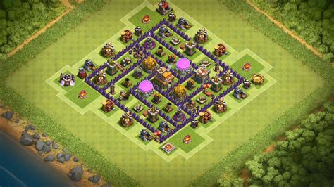 clash of clans th7 farming base best town hall 7 defense strategy clash of clans base buildings clash of clans town hall